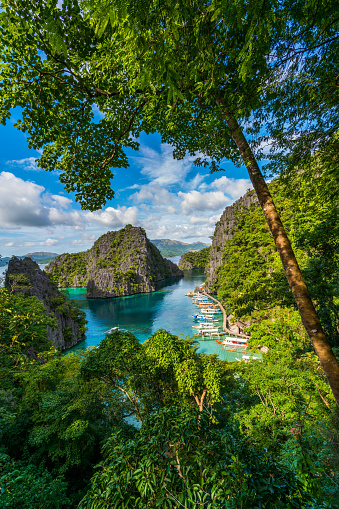 Philippines「Island of Coron with a view of Kayangan Lake in Palawan, Philippines」:スマホ壁紙(14)