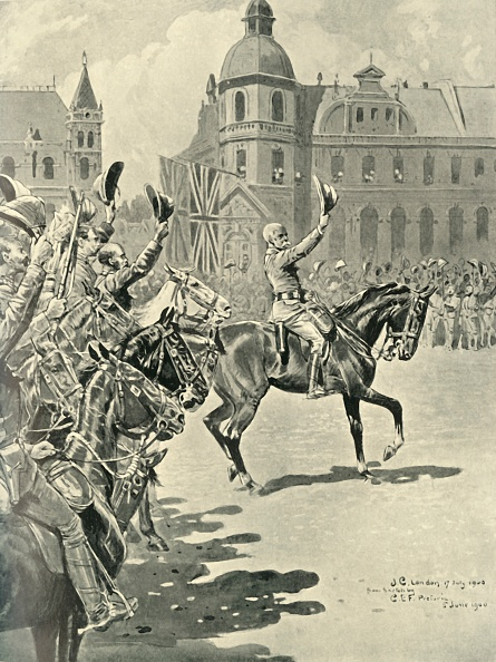 1900「Hoisting The British Flag At Pretoria: Lord Roberts Leading Cheers For The Queen」:写真・画像(18)[壁紙.com]