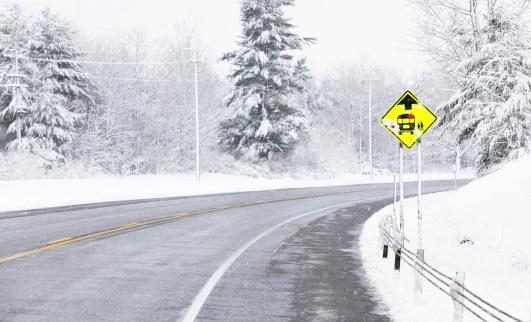 Adirondack State Park「School Bus Stop Ahead Road Sign」:スマホ壁紙(15)