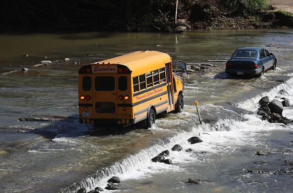 School Bus「Puerto Rico Marks Holiday Season Amidst Slow Hurricane Recovery」:写真・画像(11)[壁紙.com]