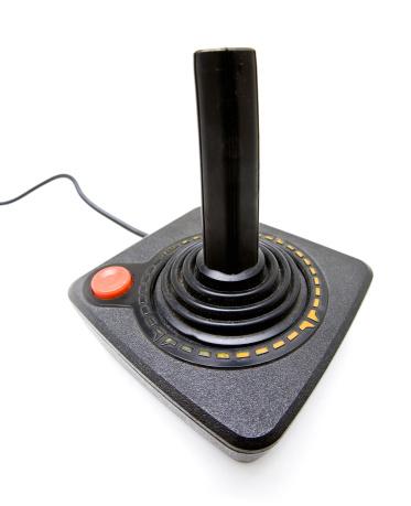 1980-1989「Vintage Video Game Joystick with Copy Space」:スマホ壁紙(19)