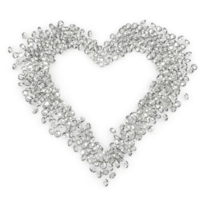 ハート型「ダイヤモンドハート」:スマホ壁紙(18)
