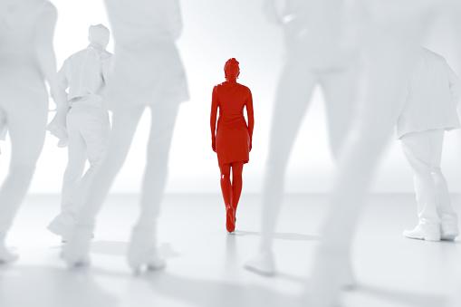 Choosing「Leadership, women's rights concept.」:スマホ壁紙(11)