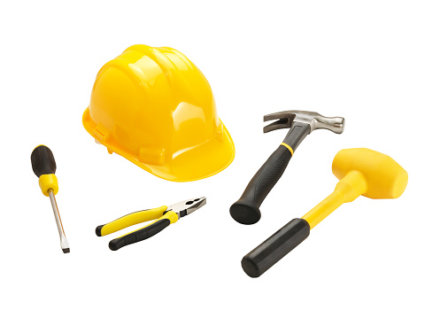 Carpentry「Work Tools (Clipping Path)  (Click for more)」:スマホ壁紙(3)