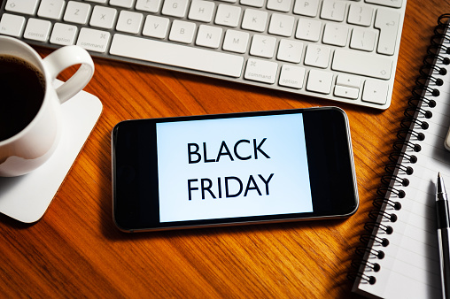 Black Friday「Black Friday concept.Smartphone with marketing message.」:スマホ壁紙(13)