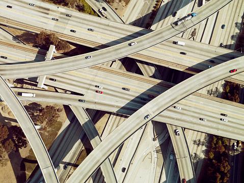 City Of Los Angeles「Highway intersection, Los Angeles, California, USA」:スマホ壁紙(2)