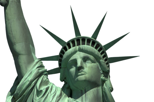 Patriotism「American Statue of liberty isolated on white」:スマホ壁紙(4)