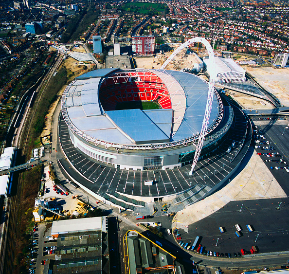Outdoors「Wembley Stadium, London, UK, aerial view」:写真・画像(13)[壁紙.com]