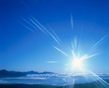 star sky「The Sun Rising Over Clouds and Mt. Muka. Hokkaido, Japan」:スマホ壁紙(12)