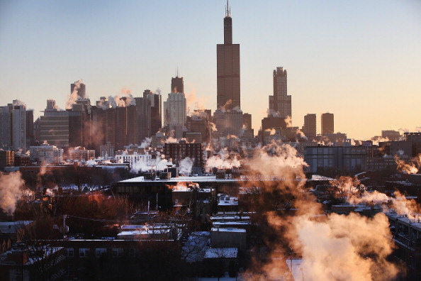 Chicago - Illinois「Another Extreme Cold Front Moves Through Midwest」:写真・画像(2)[壁紙.com]