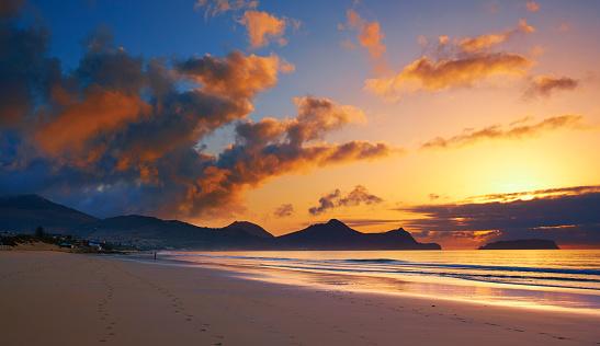 Madeira「The Sun Rises On Porto Santo Beach」:スマホ壁紙(7)