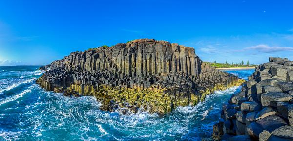 Basalt「Fingal Head headland rock formations,New South Wales,Australia」:スマホ壁紙(0)