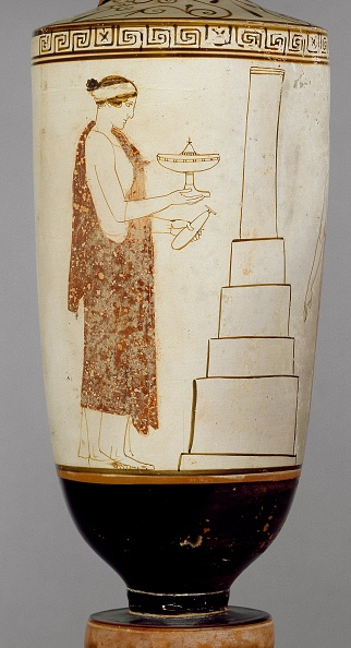 Ceramics「Attic White-Ground Lekythos Showing A Woman And Youth At A Tomb」:写真・画像(4)[壁紙.com]
