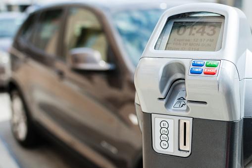 Parking Meter「Electronic/digital parking meter with time left」:スマホ壁紙(0)