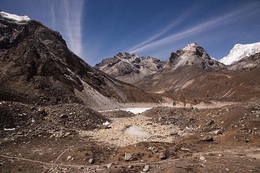 Khumbu「Fifth Lake near Gokyo, Everest Base Camp via Gokyo Trek, Nepal」:スマホ壁紙(15)