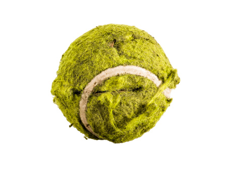 Lost「An old tennis ball, on a white background」:スマホ壁紙(0)