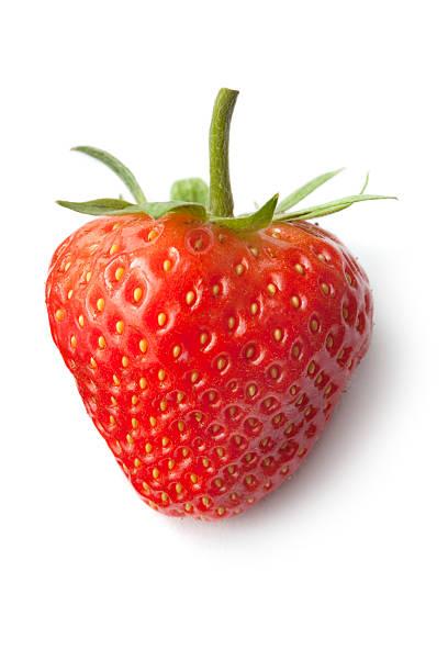 Fruit: Strawberry Isolated on White Background:スマホ壁紙(壁紙.com)