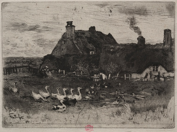 Etching「The Little Thatched Cottages」:写真・画像(19)[壁紙.com]