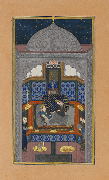 Bedroom「Bahram Gur And The Indian Princess In The Dark Palace On Saturday」:写真・画像(2)[壁紙.com]