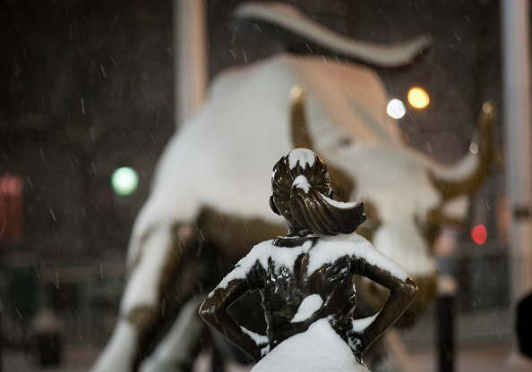 Fearless Girl Statue「Major Blizzard Hammers East Coast With High Winds And Heavy Snow」:写真・画像(15)[壁紙.com]