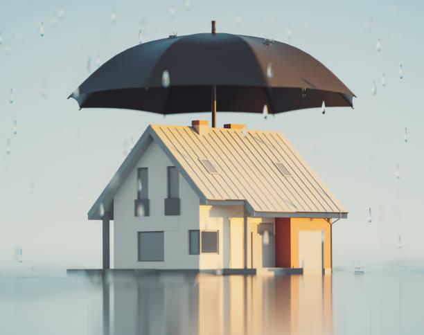 House insurance, 3d Render:スマホ壁紙(壁紙.com)