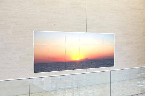 Art「A sunset printed on paper stuck on an office wall」:スマホ壁紙(15)