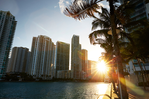 Miami「Sunset over Downtown Miami.」:スマホ壁紙(4)