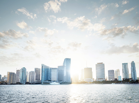 Miami「View of the Miami Skyline at sunset」:スマホ壁紙(5)