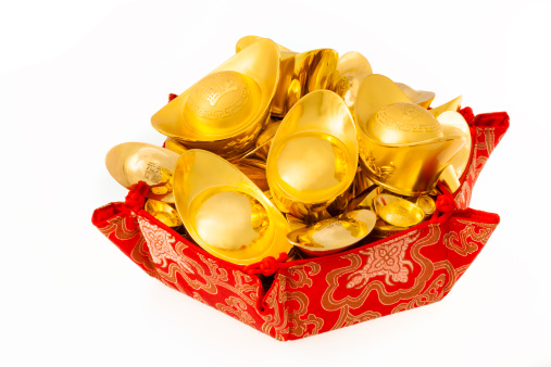 Better fortune「Chinese traditional currency gold yuanbao ingots」:スマホ壁紙(14)