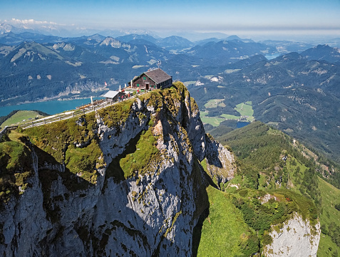 Salzkammergut「Viewpoint on Schafberg mountain summit in Salzkammergut, Upper Austria」:スマホ壁紙(16)