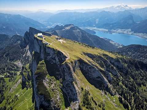 Salzkammergut「Viewpoint on Schafberg mountain summit in Salzkammergut, Upper Austria」:スマホ壁紙(10)