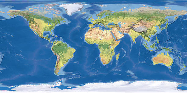 world Topographic Map,National Border:スマホ壁紙(壁紙.com)