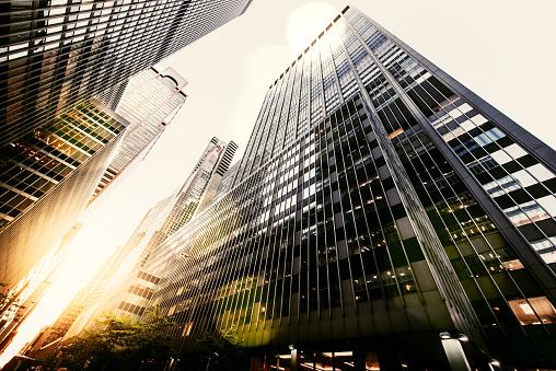 Skyscraper「Office skysraper in New York City」:スマホ壁紙(5)