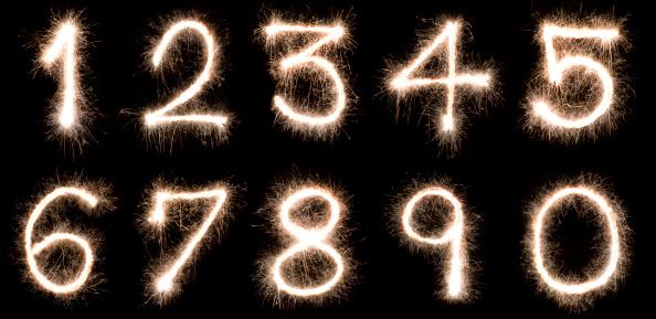 Zero「Numbers written with a sparkler」:スマホ壁紙(2)