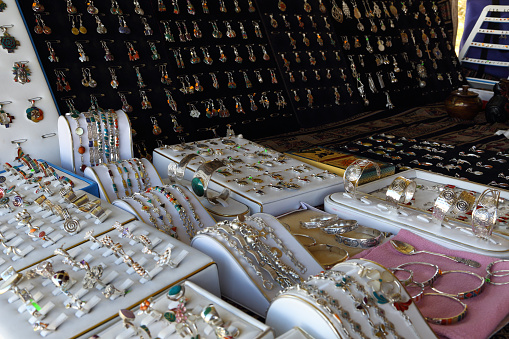 Earring「Display of handmade silver jewellery, Peru.」:スマホ壁紙(19)