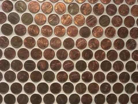米国硬貨「Display of pennies」:スマホ壁紙(9)