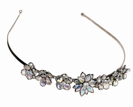 Headband「A headband with rhinestone crystal flowers」:スマホ壁紙(8)