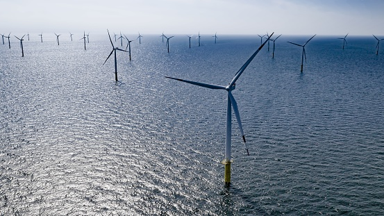 Wind Turbine「Offshore wind farm」:スマホ壁紙(18)