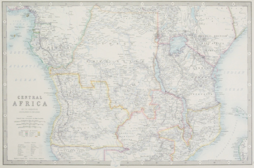 Lake Victoria「Archival map of central Africa」:スマホ壁紙(11)