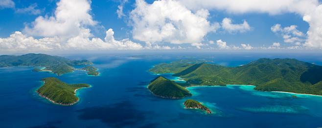 British Virgin Islands「aerial panorama of US and British Virgin Islands」:スマホ壁紙(9)