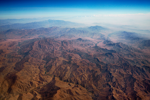 Iran「aerial panoramic view at mountain range from airplane above afghanistan」:スマホ壁紙(10)