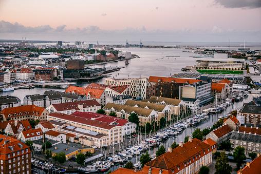 Denmark「Aerial Panoramic view from Center of Copenhagen, Denmark」:スマホ壁紙(4)