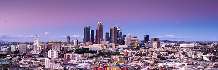 Government Building「Aerial Panorama of Downtown Los Angeles at Sunset」:スマホ壁紙(19)