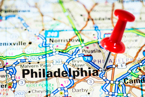 Philadelphia - Pennsylvania「US cities on map series: Philadelphia, Pennsylvania」:スマホ壁紙(15)
