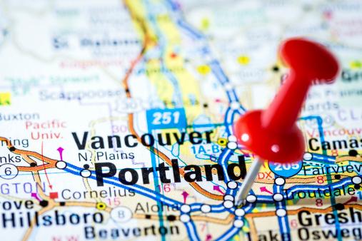 Oregon - US State「US cities on map series: Portland, Oregon」:スマホ壁紙(1)