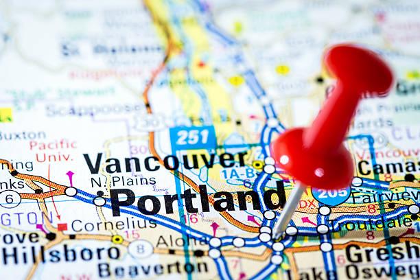 US cities on map series: Portland, Oregon:スマホ壁紙(壁紙.com)