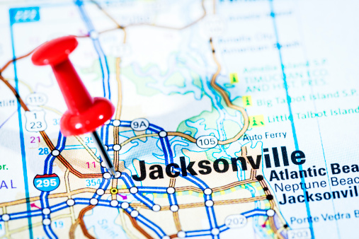 Florida - US State「US cities on map series: Jacksonville, Florida」:スマホ壁紙(4)