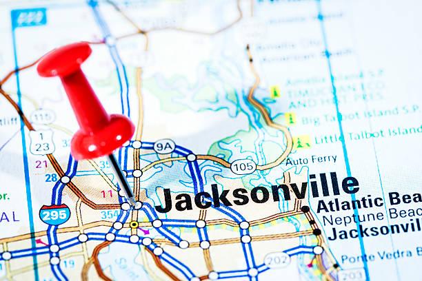 US cities on map series: Jacksonville, Florida:スマホ壁紙(壁紙.com)