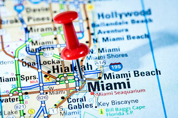 US cities on map series: Miami, Florida:スマホ壁紙(壁紙.com)