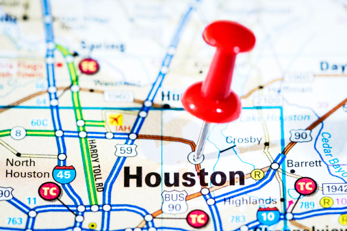 US State Border「US cities on map series: Houston, Texas」:スマホ壁紙(16)
